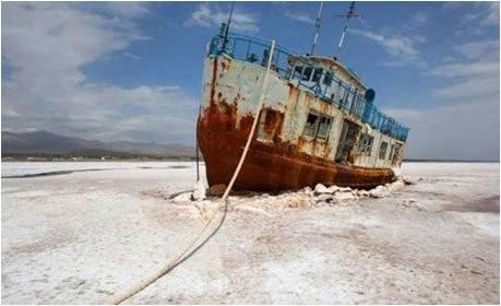 Urmiye Golu ve Batik Gemi