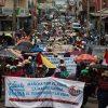 Guetamala'daki su hakkı yürüyüşü Latin Amerika'daki mücadeleleri birleştiriyor